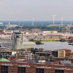 Aerial view of Hamburg, Germany — Stock Photo #49227415