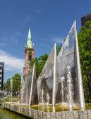 Modern fountain in Dusseldorf, Germany — Stock Photo