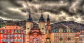 Entrance to Heidelberg from Karl Theodor Bridge - Germany — Foto de Stock