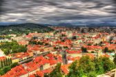 View of Ljubljana from the castle - Slovenia — Stock Photo