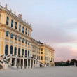 Schonbrunn palace at sunset — Stock Photo