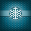 Christmas card with snow flake. Vintage style. Blue background. — Stock Photo