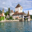 Oberhofen Castle,Lake Thun,Bernese Oberland,Switzerland — Stock Photo