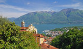 Madonna del Sasso,Lake Maggiore,Switzerland — Stock Photo