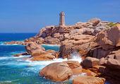 Lighthouse,Ploumanach,Brittany,France — Stock Photo
