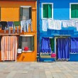 On the colorful Burano Island,Lagoon of Venice,Italy — Stock Photo
