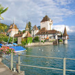 Stock Photo: Oberhofen Castle,Lake Thun,Switzerland
