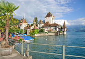 Oberhofen Castle,Lake Thun,Switzerland — Stock Photo