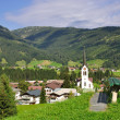 Village of Riezlern,Kleinwalsertal,Vorarlberg,Austria — Stock Photo