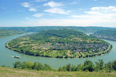 Rhine River Bow,Boppard,middle Rhine Valley,Germany — Stock Photo