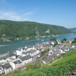 Stock Photo: Assmannshausen,Rhine River,Rheingau,Germany