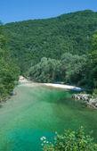 River Sava Bohinjka,Triglav National Park,Slovenia — Stock Photo