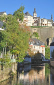 View of Luxembourg Grund in Luxembourg City — Stock Photo