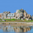 House between the Rocks,Brittany,France — Stock Photo