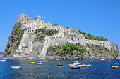 Castello Aragonese,Ischia Porto,Ischia Island,Italy — Stockfoto