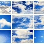 Sky daylight collection — Stock Photo
