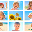 Children and summer collage — Foto de stock #12054548