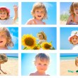图库照片: Children and summer collage