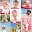 Children and summer collage — Stock Photo #12054549