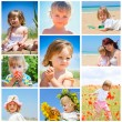 Children and summer collage — Stock Photo #12054554