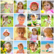 Stock Photo: Children and summer collage