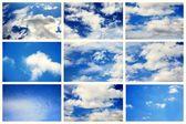коллекция летнее небо. — Стоковое фото