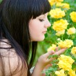 Stock Photo: Woman doing garden