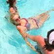 Stock Photo: Are doing water aerobic in pool
