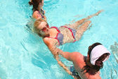 Are doing water aerobic in pool — Stock Photo