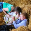 Sleeping family — Stockfoto