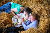 Sleeping family — Stock Photo