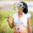 Foto Stock: Beautiful pregnant woman