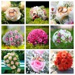 Collage of nine wedding photos — Stock Photo #13356291