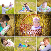 Collage of a family — Stock Photo