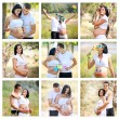Collage of pregnant — Stock Photo