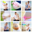 Collage of pregnant — Stock Photo #29697253