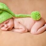 Sleeping newborn baby girl — Stock Photo #30271623