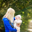 Beautiful Mother And Baby outdoors — Stock Photo