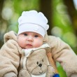 Baby outdoor in the park — Stock Photo