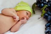 Portrait of cute newborn baby — Stock Photo
