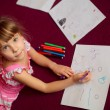 Child girl with pencils — Stock Photo #45237191