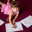 Child girl with pencils — Stock Photo #45237223