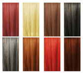 Hair Colors Set. Tints — Stock Photo