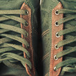 Brown leather shoe laces in close-up — Stock Photo #46860167