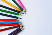 Many colored wooden pencils — Stock Photo
