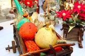 Sonbahar mallar ile natürmort — Stok fotoğraf