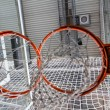 Photo: Netball net abstract