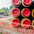 Industrially isolated pipes — Stockfoto