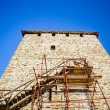 Castle tower in reconstruction — Stock Photo