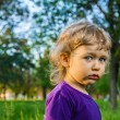 Outdoor portrait of cute little girl on the meadow — Stock Photo #37085897
